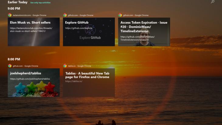 Firefox sjell mbështetjen për Timeline në Windows 10