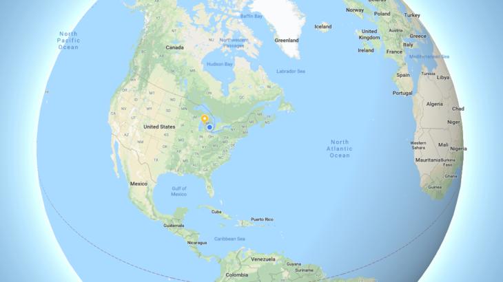 Google Maps në desktop tashmë tregon përmasat reale të hapësirave tokësore
