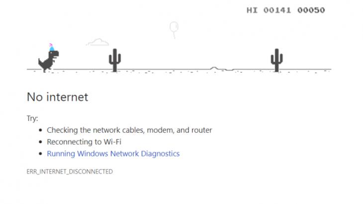 Pas katër vitesh Google shpjegon origjinën e lojës Chrome Dino