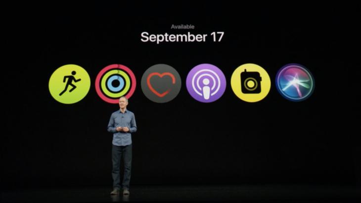 Apple watchOS 5 debuton më 17 Shtator