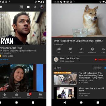Tema e errët e Youtube vjen në Android