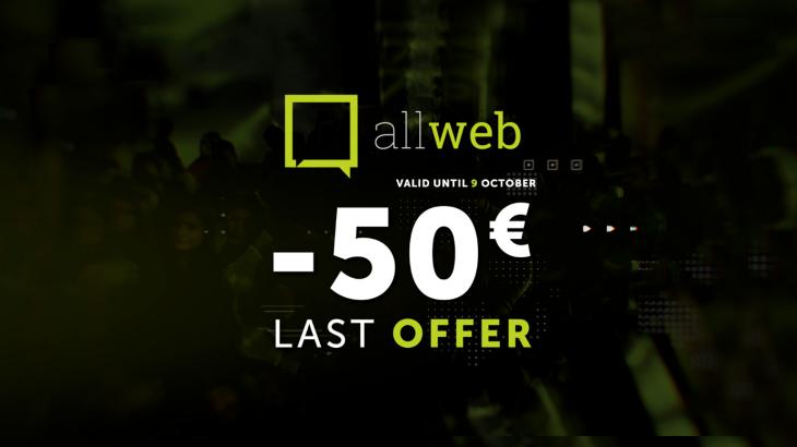 Oferta e fundit nga AllWeb, përfitoni 50€ zbritje deri në datën 9 Tetor