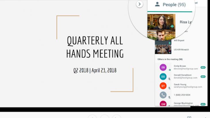 Google shton limitin e bisedave në Hangouts Meet në 100 pjesëmarrës
