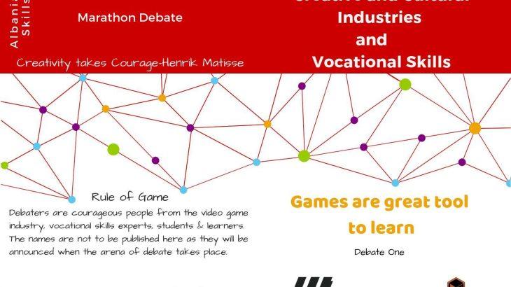 """Më 6 Nëntor ICTSlab mirëpret maratonën e takimeve """"Creative and Cultural Industries and Vocational Skills"""" organizuar nga Albanian Skills"""