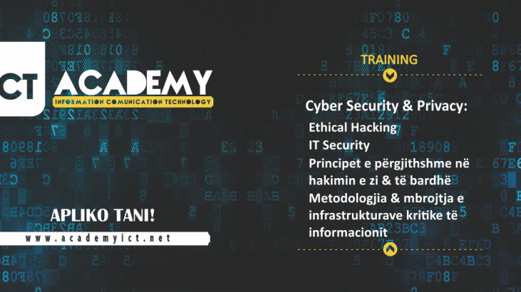 ICT Academy trajnime në Cyber Security & Privacy