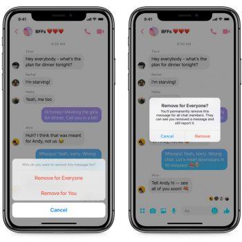 Funksioni për tërheqjen e mesazheve të dërguar në Facebook Messenger është live
