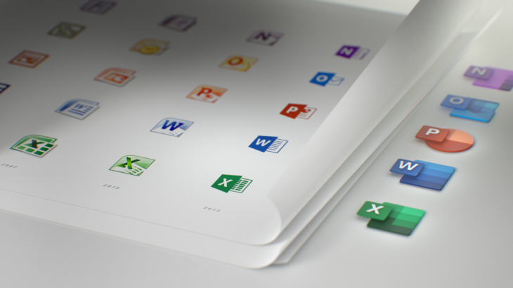 Microsoft ridizajnon ikonat e Office