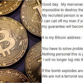 Kërcënim me bombë përmes e-mail-it, hakerët kërkojnë 20 mijë dollarë në Bitcoin