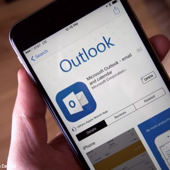 Microsoft ridizajnon aplikacionin Outlook në iOS