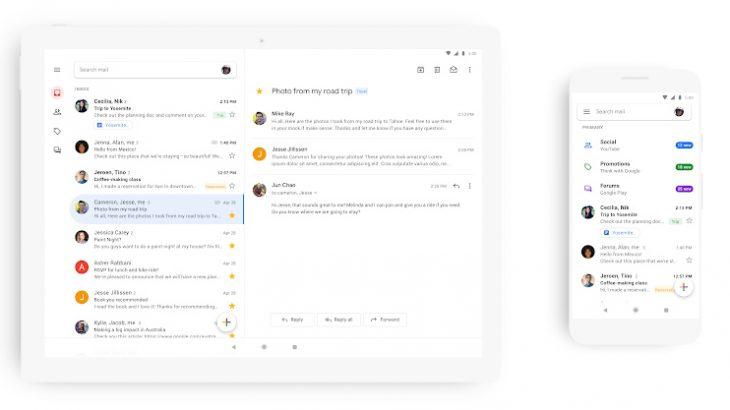 Gmail për telefonët ka një fytyrë të re