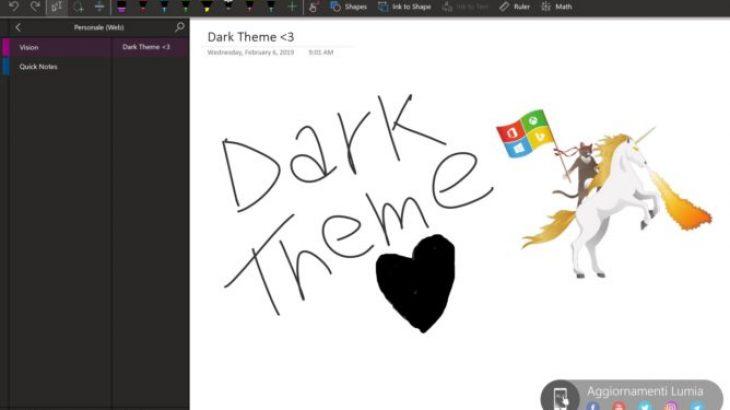 "Edhe Microsoft OneNote pajiset me ""Dark Mode"""