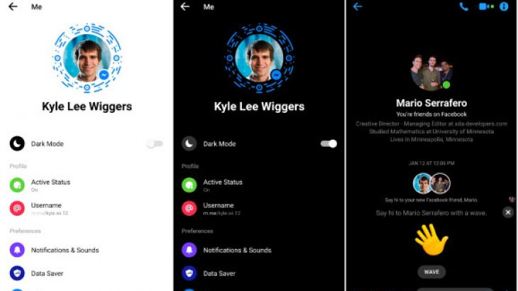 """Zyrtarizohet """"Dark Mode"""" në aplikacionin Messenger"""