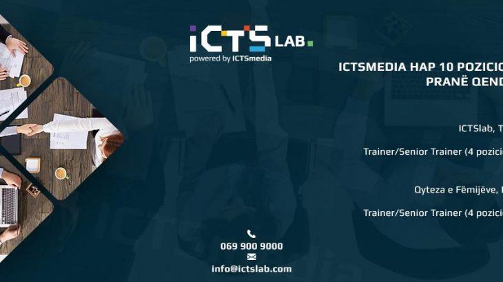 ICTSmedia ofron pozicione vakante pune në Tiranë dhe Korçë