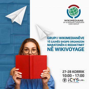 Më 27-28 Korrik në ICTSlab organizohet maratona e redaktimit Wikivoyage për zgjerimin e përmbajtjes turistike të Shqipërisë dhe Kosovës