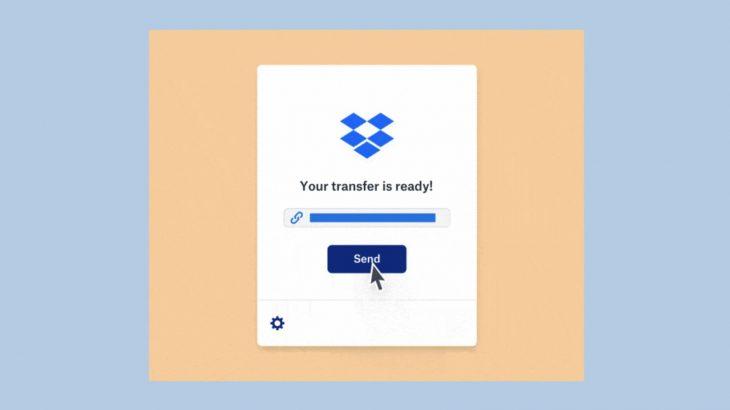 Me Dropbox Transfer mund të dërgoni deri në 100GB të dhëna