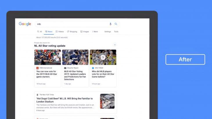 Google ndryshon mënyrën sesi lajmet shfaqen në rezultatet e kërkimit