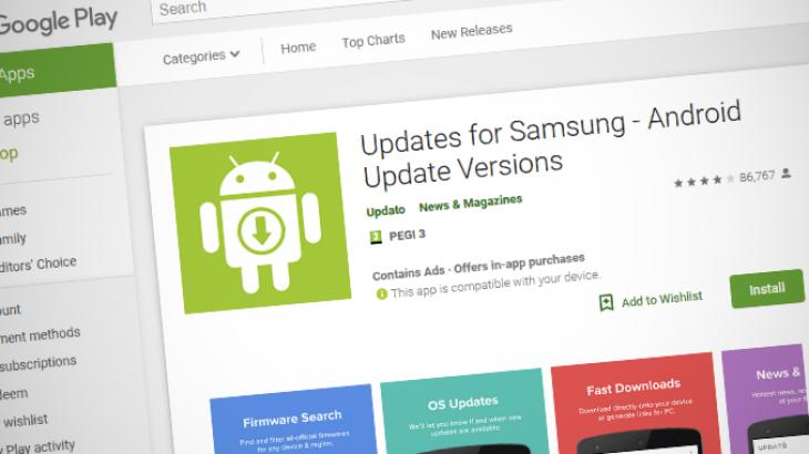 Një aplikacioni i rreme përditësimesh për telefonët Samsung është shkarkuar 10 milionë herë