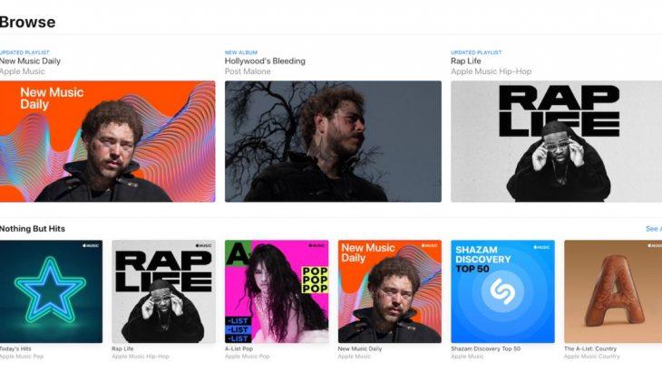 Apple Music lançohet në ueb