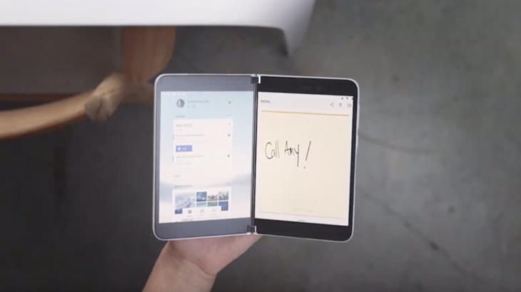 Microsoft prezanton një telefon me ekran që paloset