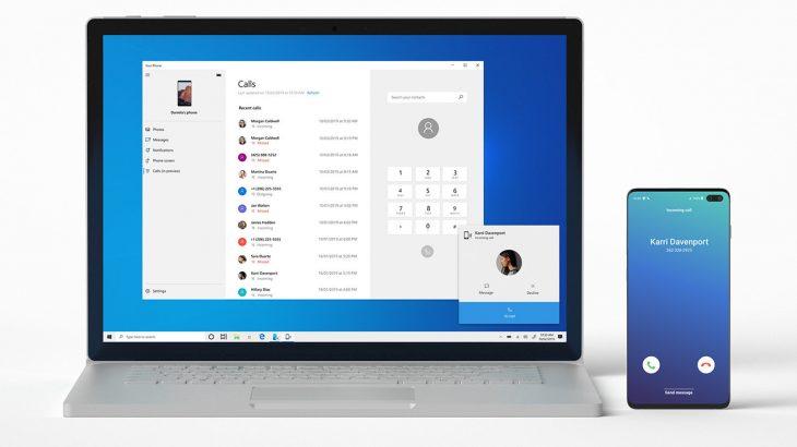 Windows 10 sjell thirrjet telefonike të Android në kompjuter