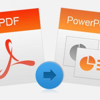 Ja sesi të konvertoni një dokument PDF në prezantim PowerPoint