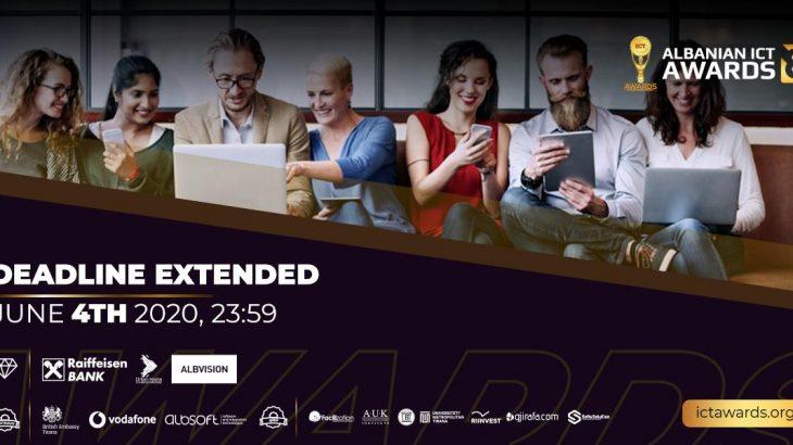 Rikthehet Albanian ICT Awards, 4 Qershori afati i fundit i aplikimeve