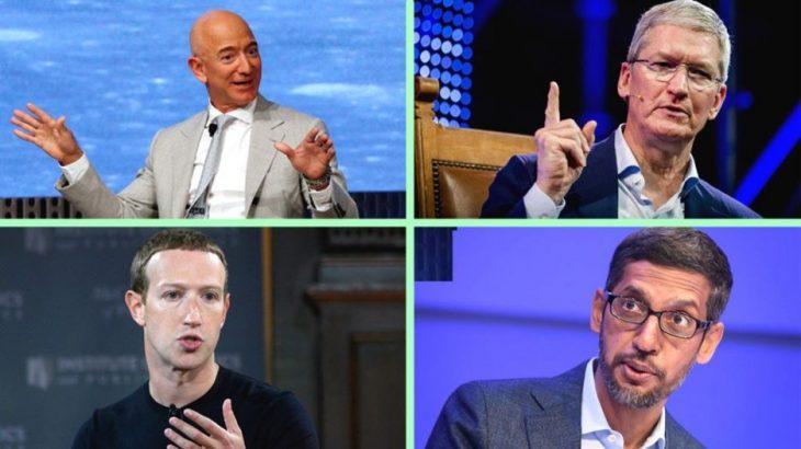 """CEO-t e katër kompanive më të fuqishme të teknologjisë në botë """"djersitin"""" përpara Kongresit Amerikan"""