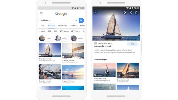 Google do të tregojë se cilat imazhe mund të përdorni pa shkelur të drejtat e autorit