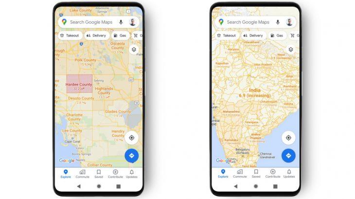 Google Maps me harta për Covid-19