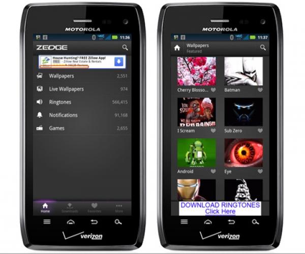 10. Zedge për Android