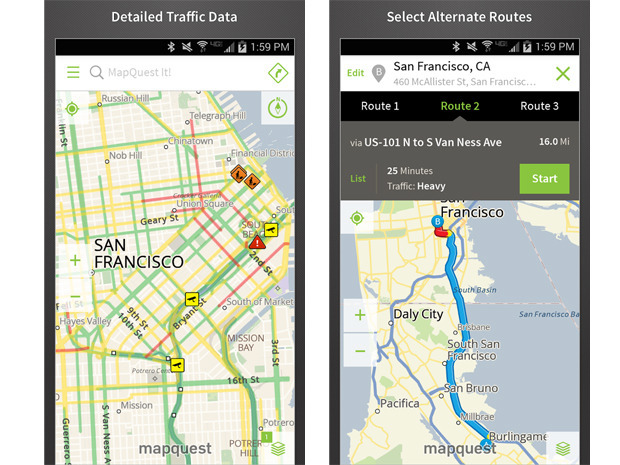 MapQuest (Android, Amazon, iOS, Windows Phone)