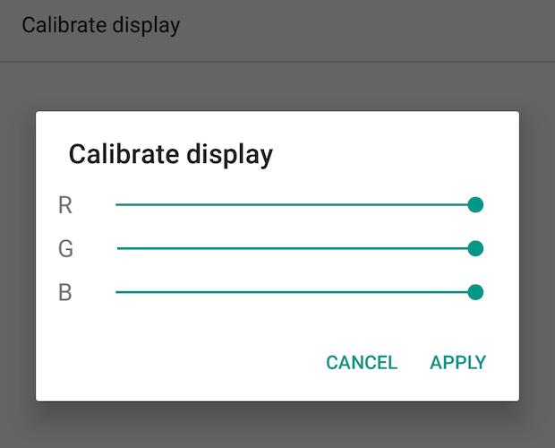 Kalibroni ekranin
