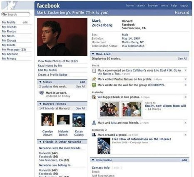2006: Profili i Mark Zuckerberg