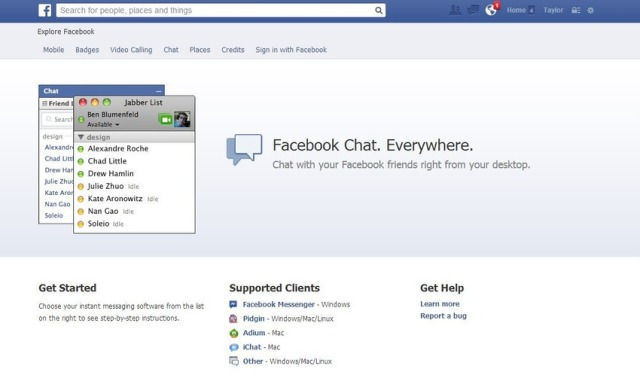 Facebook Desktop Chat