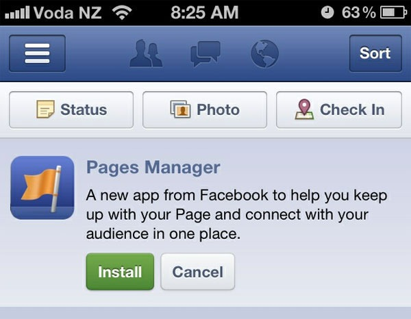 Pages Manager app