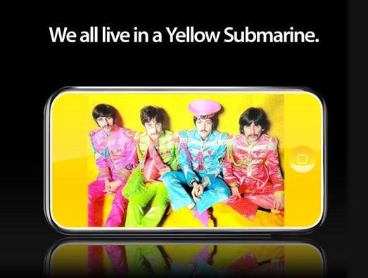 Një iPod i veçantë për Beatles-at me ngjyrë të verdhë