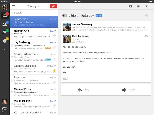 5. Përditësimi i Gmail për iPad