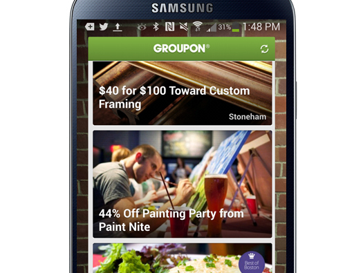 Groupon Widget për Android