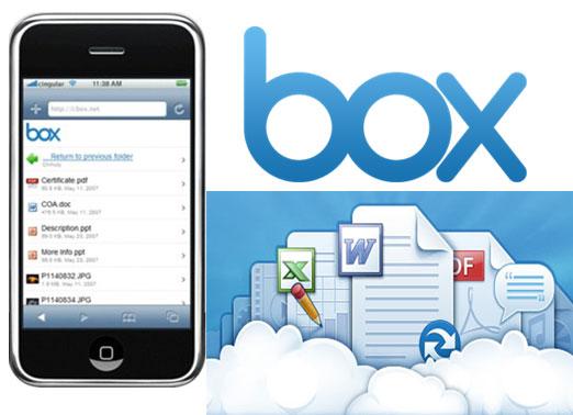 Box.net: ruajtje materialesh në cloud