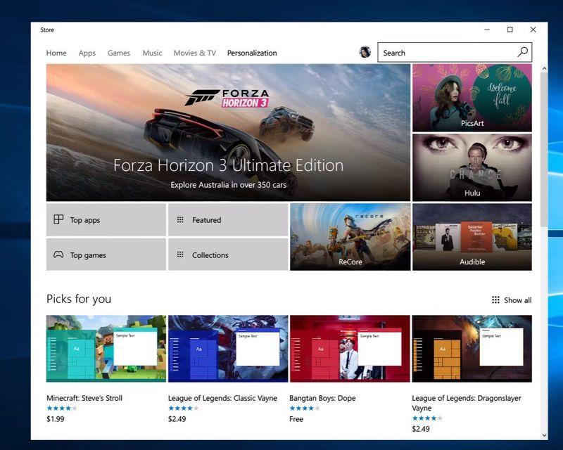 Temat në Windows Store