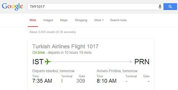 Kontrollimi i statusit të fluturimeve