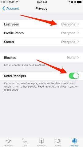 Fshihni statusin e mesazheve të shikuara